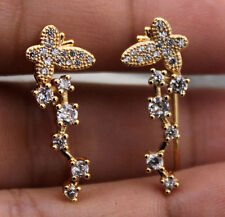 18K Yellow Gold Filled - Butterfly The Big Dipper Topaz U-Design Gems Earrings