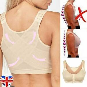 Lady Posture Corrector Bra Wireless Back Bra~ Closure Front Yoga Up Lift Support