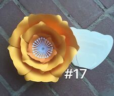 Hard Copy #17 Paper Flower Template, DIY Giant flowers, Backdrops, Decor