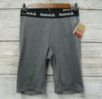 Reebok Shorts Womens Size XSmall Charcoal Heather Primary Fitted Bike Shorts New