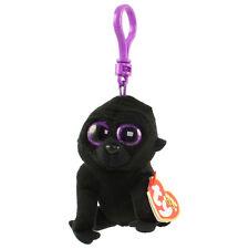 TY Beanie Boos - GEORGE the Black Gorilla (Glitter Eyes) (Key Clip) - MWMTs Boo