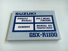 SUZUKI GSX-R 1100 (gu74) Owner's manual (1988)