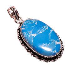 Collares y colgantes de joyería azul Larimar