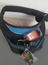Lazy Bones Dog Harness, With Safety Buckle, SMALL BLUE//BLACK