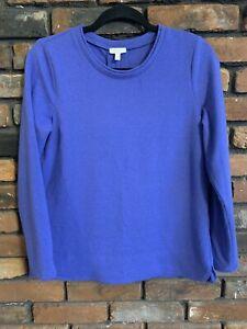 Talbots Womens Small Petite Blue Longsleeve Pullover Sweater