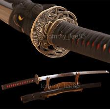Handmade Samurai Katana Full Tang Japanese Sword 9260 Spring Steel Sharp Blade