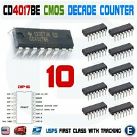 10pcs CD4017 CMOS Decade Counter Driver IC 4017 CD4017BE DIP-16 CD4017B