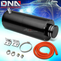 "8.5""X3""UNIVERSAL BLACK ALUMINUM COOLANT RECOVERY OVERFLOW CATCH TANK 3/8""BARB"