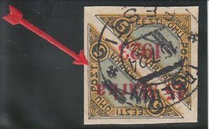 Estland, Estonia Mi.Nr.: 45 BII Kopfstehender Aufdruck/ Reversed OPT  E:3