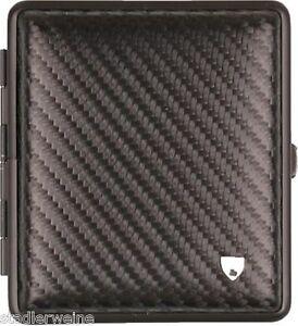 Vom Hofe Cigarette Case 18 King Size / Leather Carbon Look / Frame Black /
