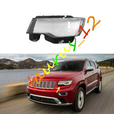 Left Driving Side Headlight Cover Clear Pc+Glue For Jeep Grand Cherokee 2014-20
