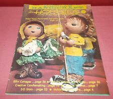 January 1975 POPULAR HANDICRAFT HOBBIES  MAGAZINE Pop Bottle Dolls ^