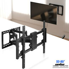 "32-85"" Large TV Wall Mount Bracket Full Motion Swith Swivel Extension Dual Arms"