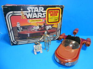 "Star Wars Vintage 1977 ""Special Offer"" Landspeeder With C-3PO And R2-D2 Figures"