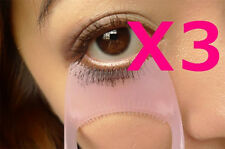 3X 3in1 Eyelash Mascara Applicator Guard Brush Comb Makeup Tool Pink USA Shipper