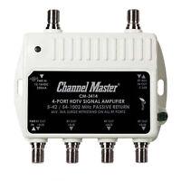 Channel Master 3414 Mini Distribution Drop Amplifier UHF/VHF Multi-Media CM3414