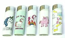 5 x Unicorn Themed Cigarette Lighters Gas Gift New