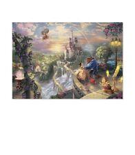 1000 Pieces Jigsaw Puzzle Disney Beauty & The Beast Thomas Kinkade Luminous_Va