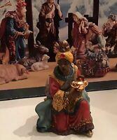 Replacement King For Vtg 13 Piece Costco Kirkland 75177 Blue Box Nativity Set
