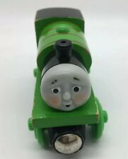 Thomas Wooden Railway Hard at Work Percy RETIRED Tired Face Train Set Green 2003