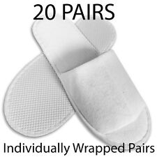20 Paires Spa Hotel Guest Slippers open toe éponge jetables Terry Style New