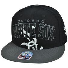 MLB '47 Brand Chicago White Sox Vin Wool Blockhouse Snapback Flat Brim Hat Cap