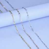 REAL Classic 925 Twist Piece Sterling Silver Chain Necklace SOLID Jewelry Italy