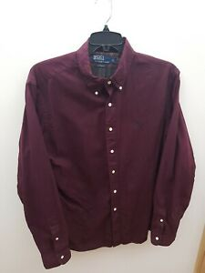 Vintage Polo Ralph Lauren Shirt Smart Casual Purple XL Custom Fit