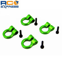 Hot Racing 1/10 Scale Aluminum Green Tow Shackle D-Rings (4) ACC80805
