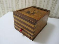 ANCIEN, distributor box ,boite à cigarettes à rideau, marqueterie de bois