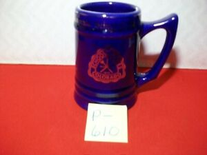 COLLECTIBLE COLORADO SCHOOL OF MINES MUG #AH12- BY W.C. BUNTING CO. BLUE W/ GOLD