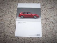 2012 Audi A3 Quattro Avant Wagon Owner Manual Premium Plus TDI Progressiv 2.0T