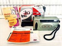 3D Trio 35mm Camera Triple Lens Point & Shoot Box & Paper Work & New Box of Film
