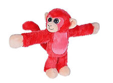 Wild Republic Huggers Red Monkey Plush, Slap Bracelet, Stuffed Animal, Kids Toys