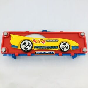 Vintage 1998 Mattel Hot Wheels Splittin' Image II 6 Toy Car Carrying Case
