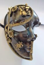 Steampunk Science Fiction Robotic Mask - Gears studs, tubes etc.