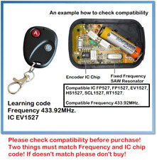 Universal Learning Code (IC EV1527) Garage Door Gate Remote Control 433.92MHz.