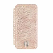 House of Harlow iPhone 7~ folio credit card phone case~ PINK/Gold lizard texture