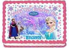 EDIBLE DISNEY PRINCESS FROZEN ELSA ANNA SNOWFLAKES BIRTHDAY ICING CAKE TOPPERS