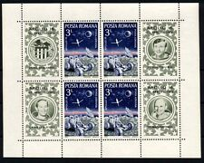 1166 ROMANIA 1972 APOLLO 16 Block MNH