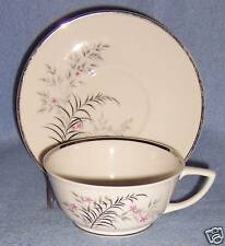 Jeannine PARISIENNE ROYAL JACKSON footed CUP AND SAUCE  fine vintage china