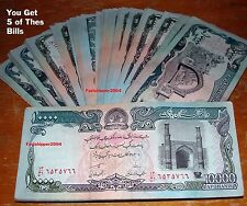 New listing Afghanistan Afghani Taliban Banknote Money Currency Note Lot 5 Bill World Rupees