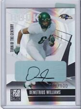 2006 DONRUSS ELITE ROOKIE AUTO 53/100 DEMETRIUS WILLIAMS CARD #138