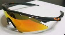 Oakley M Frame Jet Black Fire Iridium Sweep Vented lens Blade Razor Mumbo Jacket
