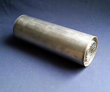 """63mm bore (2½"""") 4"""" Round x 10"""" Long Universal Stainless steel exhaust silencer"""