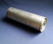 "63 mm de diámetro (2 ½ "") de 4 pulgadas redondo x 10"" de largo Universal De Acero Inoxidable De Escape Silenciador"