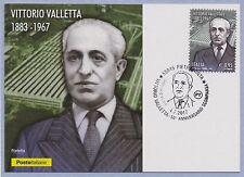 ITALIA Cartolina Filatelica Vittorio Valletta Anno 2017