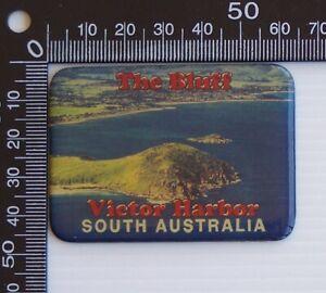 VINTAGE THE BLUFF VICTOR HARBOR SOUTH AUSTRALIA SOUVENIR ENAMEL FRIDGE MAGNET