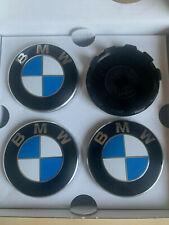 (4) Set BMW OEM 36136783536 36-13-6-783-536 Wheel Center Emblem 6 783 536-04