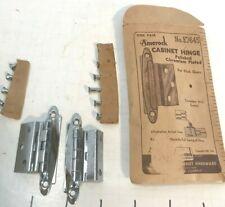 Vintage Amerock E7645  NOS Polished Chrome Cabinet Door Hinges